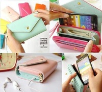 New Multi Propose Envelope Wallet Case Purse for Galaxy S2,S3,iphone 4,4S Mobile Phone Bag