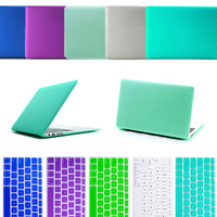"Frosting Transparent Anti Glare Hard Case +Silicone Protective Keyborad Cover For MacBook Air 11.6'' 13.3"" inch laptop case"