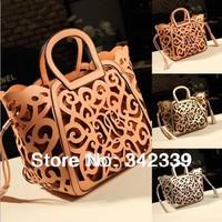 Hot!new 2014 fashion women leather handbags Classic Elegance hollow out handbag one shoulder bag messenger bag totes 5 colors