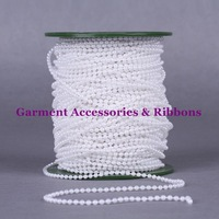 Free shipping 120meters/lot White Color 3MM Pearl Bead String Christmas Beads Fixed top Quality String Favor Craft Decoration