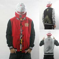 Autumn winter brand Baseball Jacket Hoodie black/gray/red M-3XL Lover men Man sport outdoor outerwear Sweatshirt Uniform