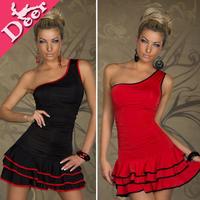 2013 new women's optical illusionsexy Clubwear One Shoulder Elegant  Party Dress teenage girls fashion vestidos curtos on sale