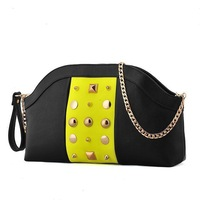 Vintage rivet day clutch 2014 women's bag crocodile pattern chain small bag one shoulder cross-body female