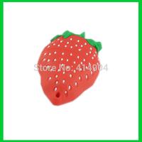 Wholesale strawberry shape usb flash disk food pendrive memory stick mini 32 gb pen memories thumb drive ,fruit usb