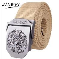 2014 Fashion Canvas Premium Dragon Metal Mens strap man Ceinture Buckle Belt men's belt 110cm Free shipping MB009