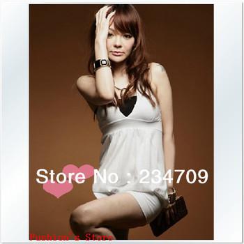hot sexy white V-Neck skirt dress/dresses new fashion 2013/dress women/bodycon dress,1 pcs/lot