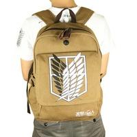 Anime Shingeki no Kyojin Canvas Backpack/ Attack on Titan Scouting Legion High Quality School Bag
