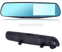 Drive recorder Russian  Car Rearview Mirror Parking Back Up DVR CAMERA 4xzoom AS HD 1080P IR Night Vision G-SENSOR Car Black Box