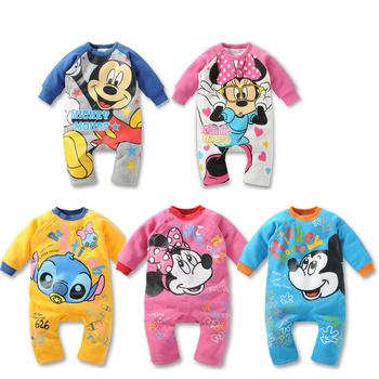2013 children's clothing baby romper newborn bodysuit romper male ultra soft cotton Baby girls boys Mickey Minnie Kids Rompers