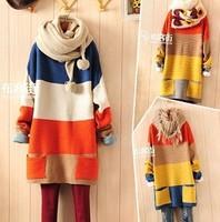 Fashion Women O-neck Panda Sweater Knitted Wear Knitting Pullovers Free shipping 3 Colors