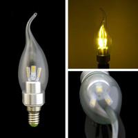 3pcs 3W 5W SMD E14 Decoration White/Warm Light LED Candle Bulb Lamp AC110V-230V Free Shipping