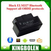 2014 New Black MINI ELM327 Bluetooth Super Mini Elm 327 OBD2 / OBDII ELM 327 V2.1 Car Code Scanner