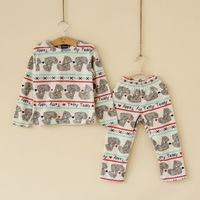 Pajamas, DIS original single boys and girls fleece pajamas home service package piece C0830-31
