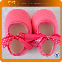 2013 cute pink handmade newborn baby shoe simple ribbon infant crib shoes  EMS free shipping