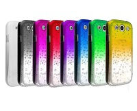 Freeshipping10 COLORS  3D For Samsung Galaxy S3 i9300 Water Drop Raindrop change Ultra Thin Hard Case Cover