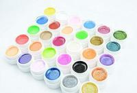Pro mix 30 Colors Manicure nail art UV Gel set Builder Glitter Gel