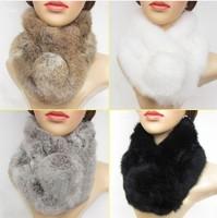 2013 Super sell well fashion warm new best Rex rabbit fur scarves shawls