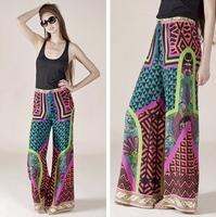 Aztec Female trousers bohemia wide leg pants fashion rayon national trend plus size available fashion 19 palazoo