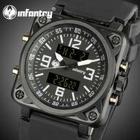 INFANTRY US Navy Military Alarm Date Day Digital Quartz Men's Sports Outdoor Wrist Watch Rubber Watches New Aviator Wrist Watch