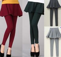 S~4XL Women Plus Size Elastic Waist Thickening Fleece Spring Autumn Winter Bodycon Pantskirt Brand Causal Tight Capirs Pants