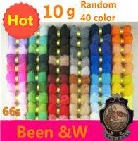 Free shipping!Random 40 Color Wool Felt poke fun DIY 10g/bag WOOL ROVING-100% WOOL-FELTING, SPINNING, LOCKER HOOKING