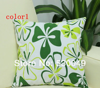 Free Shipping 16''X16'' 2pcs 4Designs Printed Canvas Pillow Cushion Cover For Sofa or Bed O002