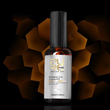 PURE 100 мл марокканского Аргана масло для ремонта волос влаги ущерб для после кератина для ухода за волосами и бесплатной доставкой