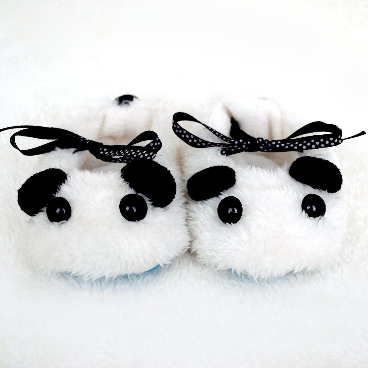 TRANSPORTE LIVRE-nascidos sapatos mão do bebê panda encantador DIY produtos artesanais de pano materiais de bricolage. NEW2013(China (Mainland))