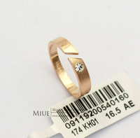 Miue brand 18K women fashion imitate diamond rings in gold plated jewelry wholesale strech ring for women 2013