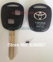 TOY43-2B Toyota 2 button remote key shell, high quality