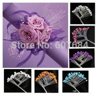 (1 pack/lot) Rhinestone Picks Wedding Prom Corsage Floral Accessories