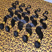 7pcs lot Body Wave Brazilian Virgin Hair Weaves Full Head Cheap Rosa Hair Products Bundles Double Weft Human Hair Free Shipping