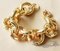 2013 fashion new  freeshipping JC Luxury Jewelry Gloden Classic Link Statement Bracelet OEM wholesale