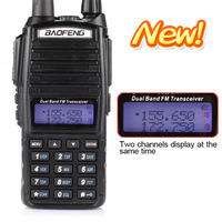 Free shipping by Fedex BaoFeng Newest Dual Band Two Way Radio UV-82 with Double PTT Button Design 136-174MHz&400-520MHz