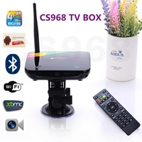 Newest CS968 Quad Core RK3188 2GB/8GB Android 4.2 Built in 2.0MP Camera MicPhone Bluetooth  RJ45 TV Box Media Player 5pcs/lots