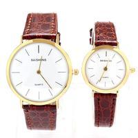 Watch Leather Strap Watches Genuine Ultra-thin Popular Fashion Quartz Lovers Men Women Girl Unisex Wrist Clock Free shipping