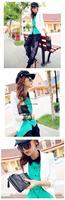 Korean Style PU Leather Fashion Handbag Designer Rivet Lady Wallet Clutch Purse Evening Bag 4004