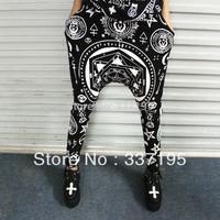 Fashion HARAJUKU killstar five-pointed star hexagram skull ktz geometry casual harem pants woman&man's clothing free size loose