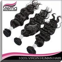 Free Shipping Indian Natural Wave Virgin Hair Online 3 pcs/lot Mix Length Human Hair Thick No Tangle No Shedding Hair Extension