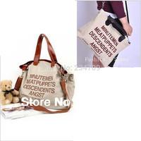 Free shipping,new Hot sell 2014 big letter Casual Canvas women messenger bags/women leather handbags/women handbag,1 pcs/lot