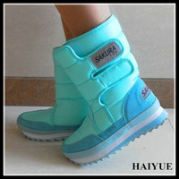 New 2013  Hot Sale Snow Boots  SAKURA Cherry  Shoes  Fashion  Waterproof  Snow Boots  Plus Size Flat Boots   For Men Boots