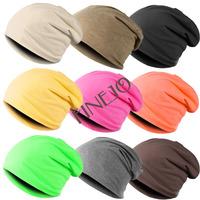 wholesale New Fashion Winter Unisex Solid Color Elastic Hip hop Cap Beanie Hat Slouch 9 Colors One Size 41