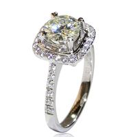 No.1 Sparkling Stone 1CT Solid White Gold Wedding Engagement Anniversary Ring Lab Grown Charles&Colvard Moissanite Diamond