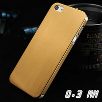 0.3mm Thin Brushed Aluminum case for iphone 5 5s 5g Hard Luxury, Titanium steel mesh Metal back cover for iphone 5g, 4 styles