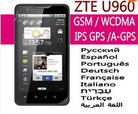 "2013 new 100% original ZTE U960 2s unlocked GSM TD-SCDMA Android mobile phone WIFI GPS Dual-core 4.3"" IPS"