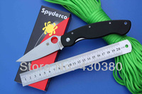 Spyderco C36 GPE Folding Knife CPM- S30V blade G10 handle Camping knife Survival Knife Tactical clip gift box free shipping