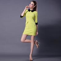 Aliexpress women 2013 new fashion brand princess elegant one-piece dress fashion peter pan collar women's dresses
