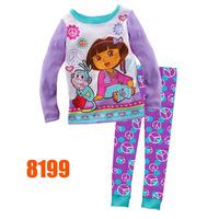 Boys Cosplay Pajamas Sets Children Autumn -Summer Clothing Set New 2014 Wholesale Kids Short-Sleeve Superman Pijamas 8420