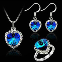 Wholesale 2014 new fashion Latest design Accessories austria crystal women wedding gifts necklace/earrings/ring jewelry sets