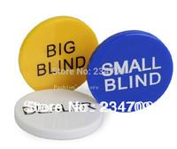 Free shipping,hot!beautiful 40 g Texas poker size Blind code zhuang a set of 3 a Big Blind Small Blind Dealer poker,1 set/lot